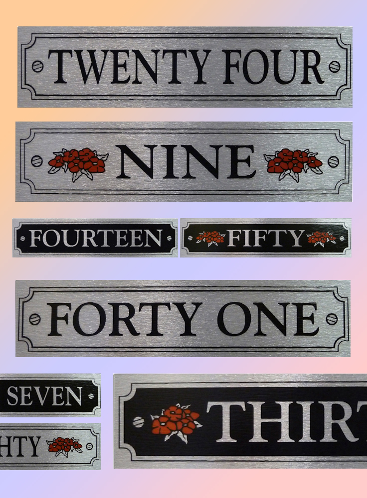 Written House Numbers Unbeatable Prices