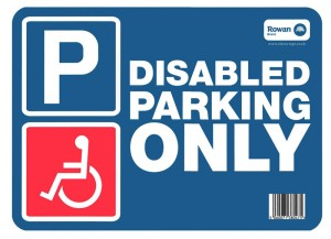 disabled parking sticker