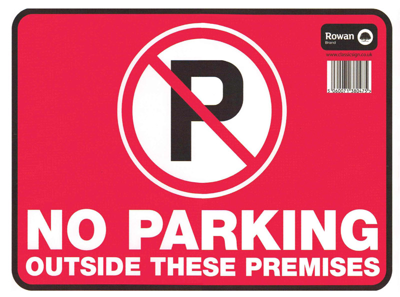 No Parking Sign Stickers