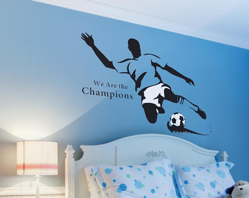 Football Fanatic Extra Large Wall Stickers Classic Signs