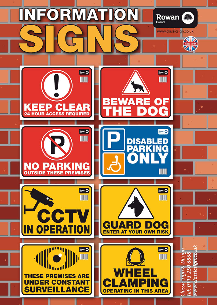 High Quality Warning Sign Stickers